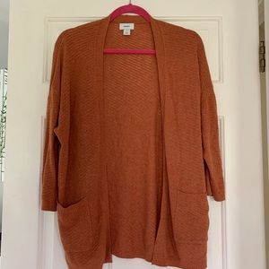 Rust Open Front Cardigan